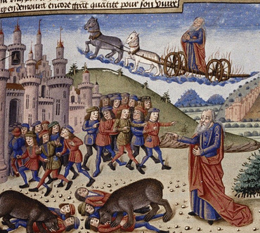 Elisha - 1453 French manuscript