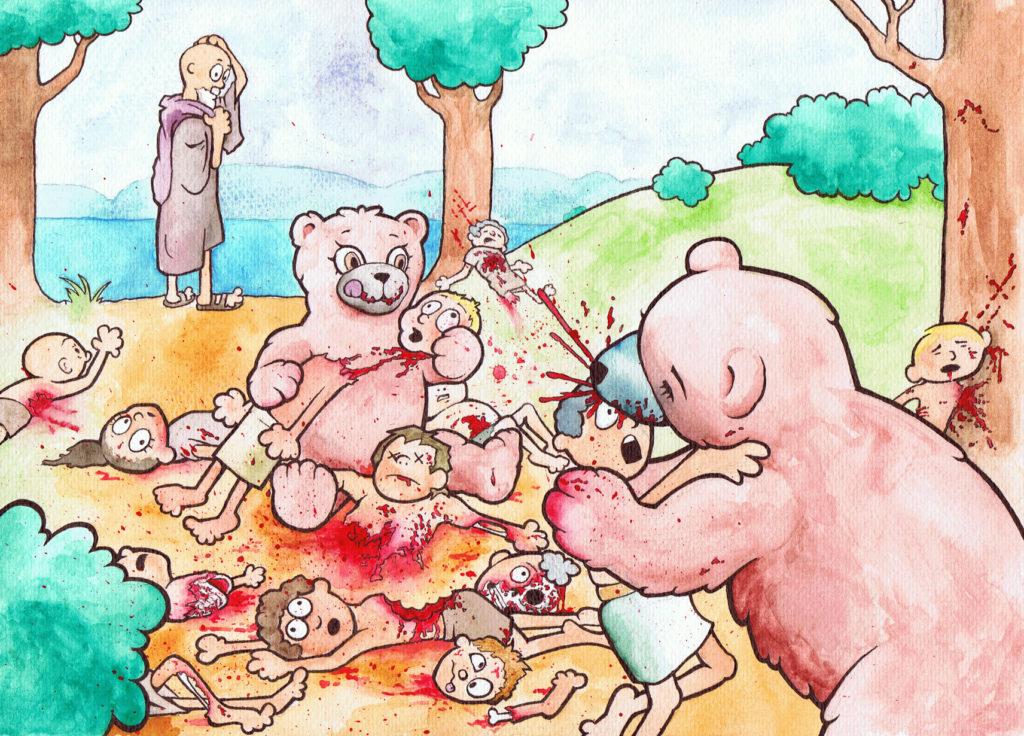 Elisha and the Bears by Panistheman